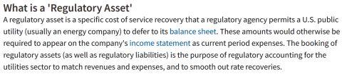 regulatory assets defined 480